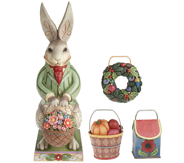 Jim shore heartwood creek large bunny with 4 seasons baskets jim shore heartwood creek large bunny with 4 seasons baskets page 1 qvc negle Choice Image