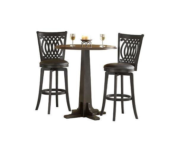 Hillsdale Furniture Dynamic Designs 3 Pc Pub Set Brown Black QVC