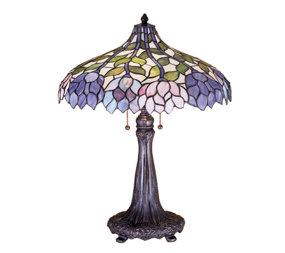 ... Tiffany Style Wisteria Table Lamp Qvc Audiocablefo ...