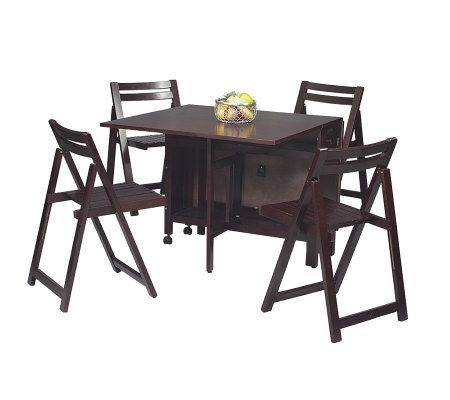 Space Saver 5 Piece Dining Set   Wenge U2014 QVC.com