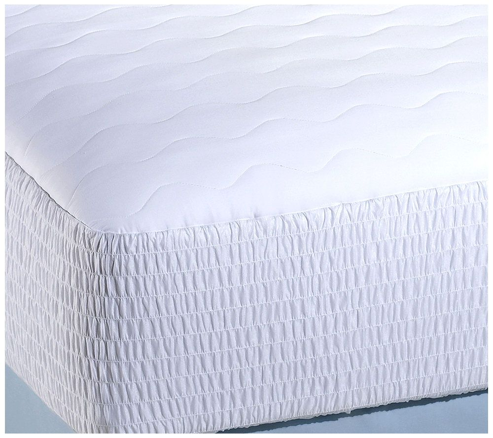 beautyrest queen 400 thread count pima cotton mattress pad page 1 u2014 qvc com