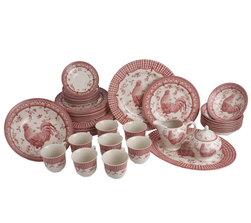 sc 1 st  QVC.com & Churchill 45-piece Rooster Dinnerware Service for 8 - Page 1 \u2014 QVC.com