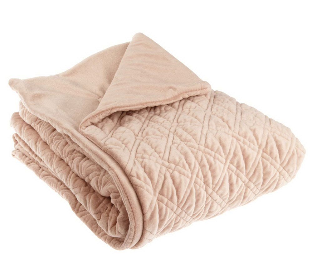 """Berkshire Blanket 50""""x70"""" Quilted Puff Throw - Page 1 — QVC.com"""