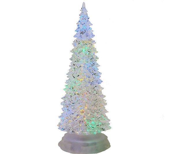 12 34 led color changing acrylic christmas tree by sterling qvccom - Sterling Christmas Trees