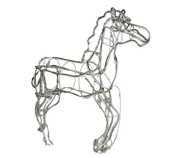 3D 50 Running Rope Light Prancing Horse Outdoor By Brite Star