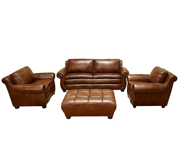Finer By Design Cambridge Four Piece Italian Leather Furniture Set