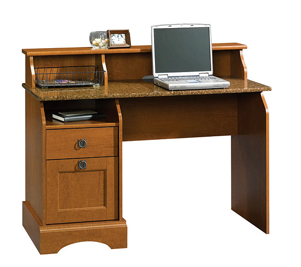 Sauder Graham Hill Collection Desk  Autumn Maple Finish  Page 1