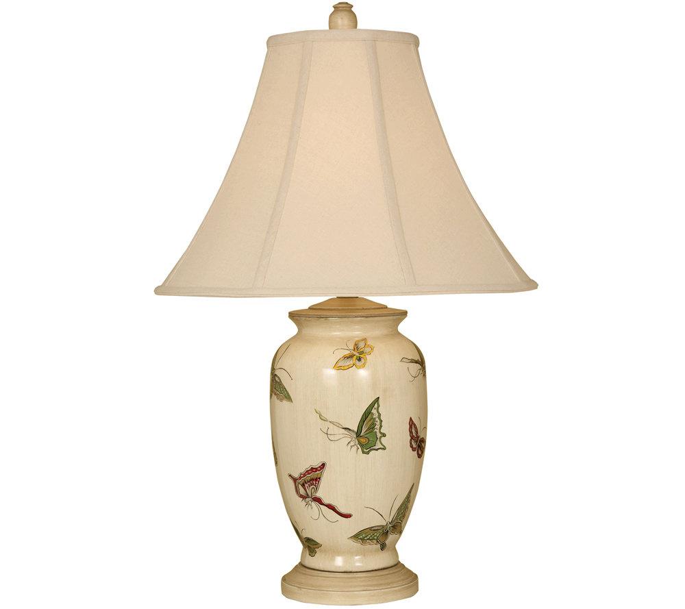 Butterfly porcelain table lamp qvc com
