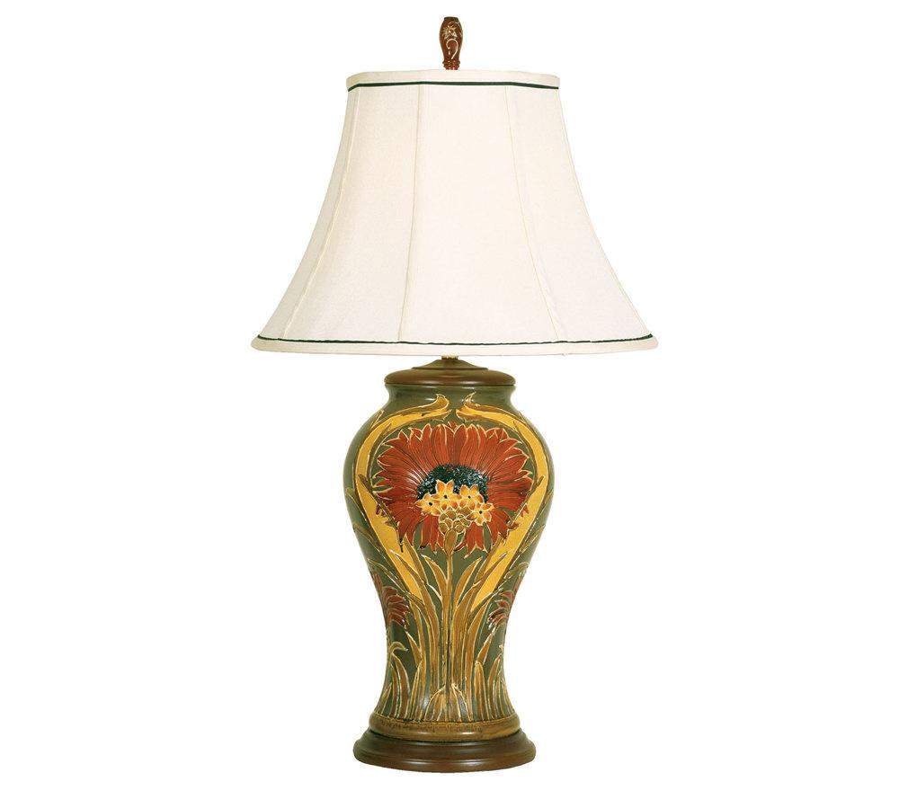 Art deco table lamp qvc com