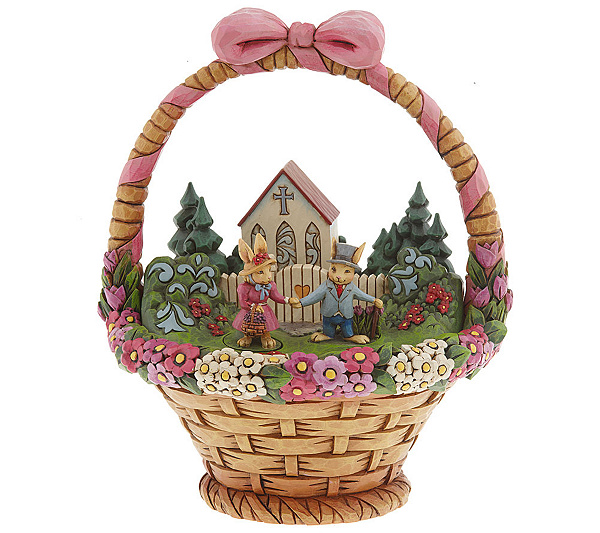 Jim shore heartwood creek easter basket diorama page 1 qvc negle Choice Image