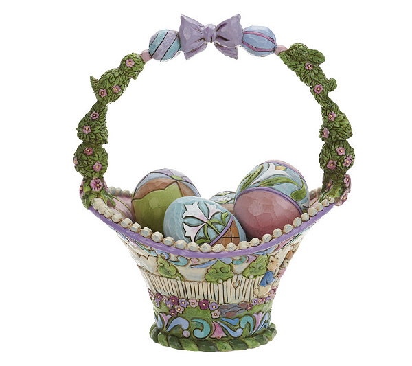 Jim shore heartwood creek annual easter basket page 1 qvc negle Choice Image