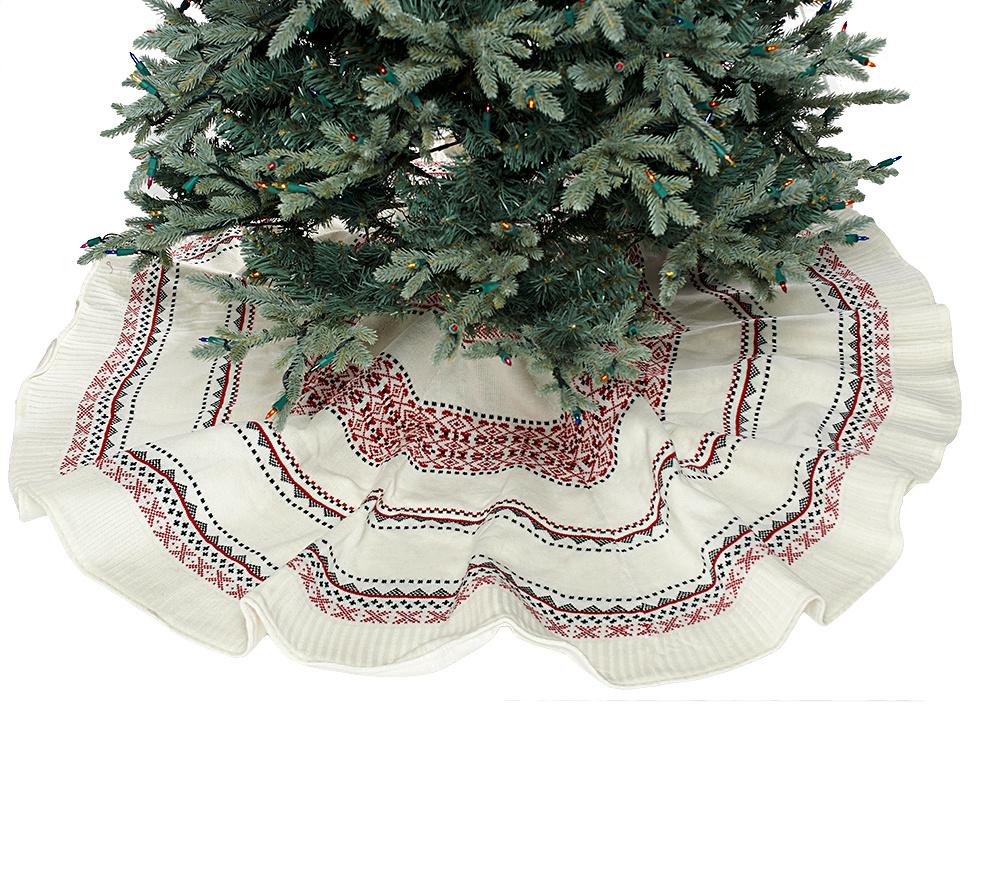 "ED On Air 60"" Knit Fair Isle Tree Skirt by Ellen DeGeneres - Page ..."