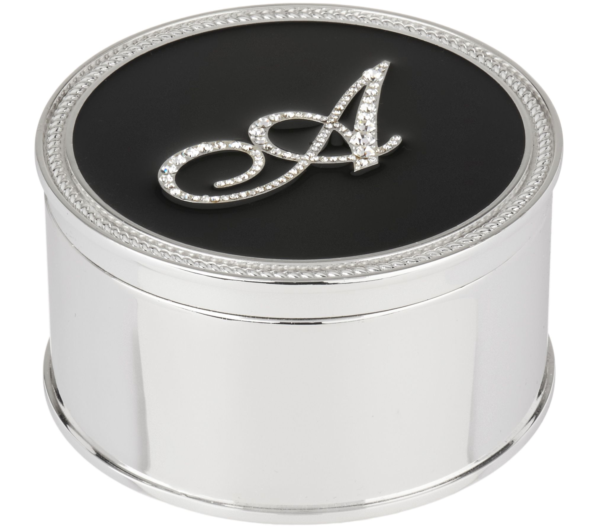 As Is Safekeeper Initial Jewelry Box wRope Trim by Lori Greiner