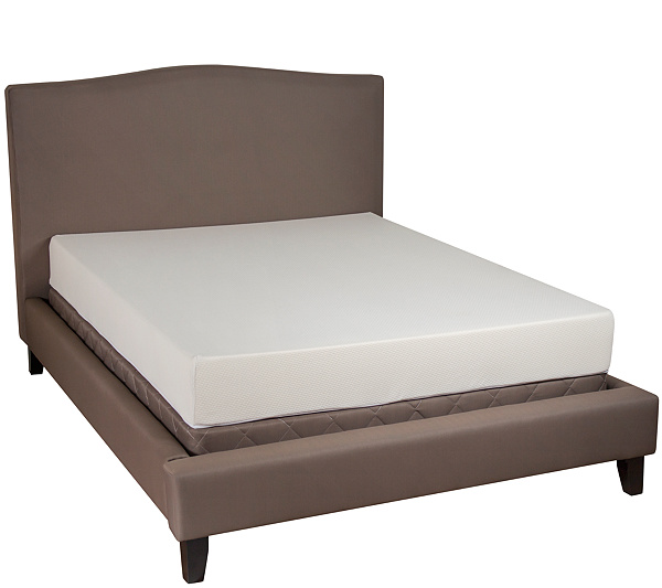 pedicsolutions essentials king 8 gel memory foam mattress page 1 qvccom - Memory Foam Bed Frame