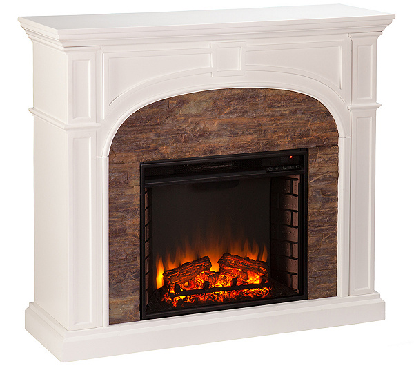 sunbeam electric fireplace. Oliver Electric Fireplace  H287393 Heaters Buy Now Pay Monthly QVC com