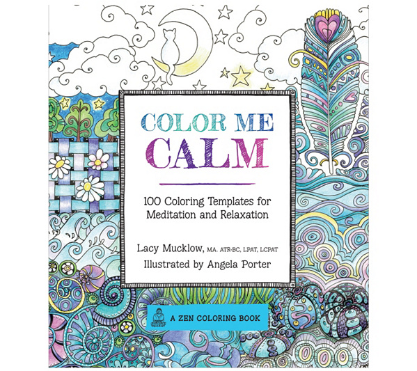 Color Me Calm Adult Coloring Book QVC