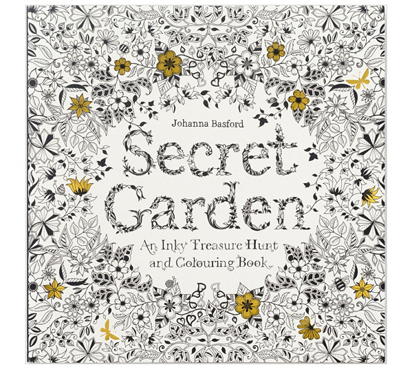 Chronicle Books Secret Garden Adult ColoringBook QVC