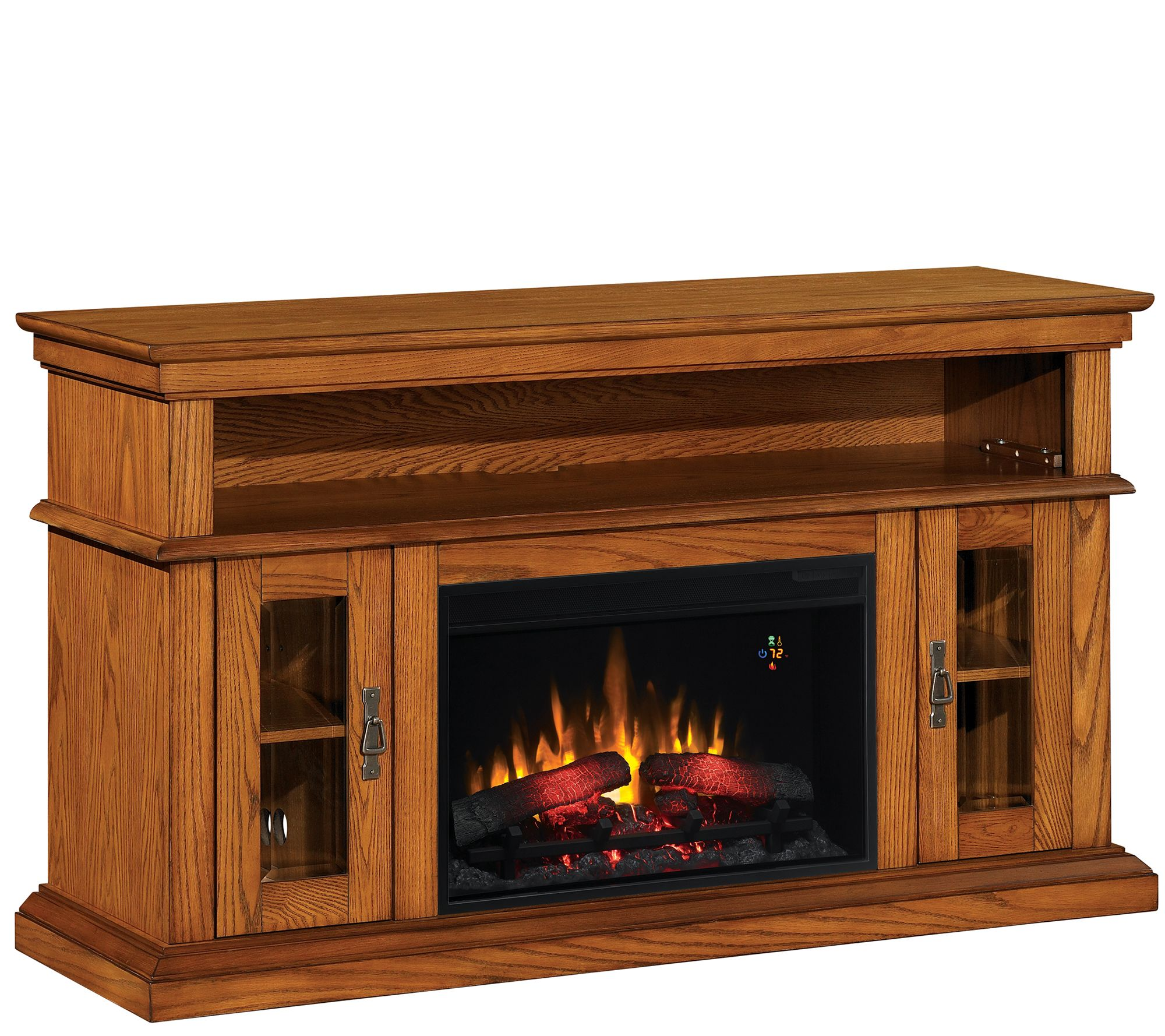 Bell'O Brookfield TV Stand Infrared Electric Fireplace Heater ...