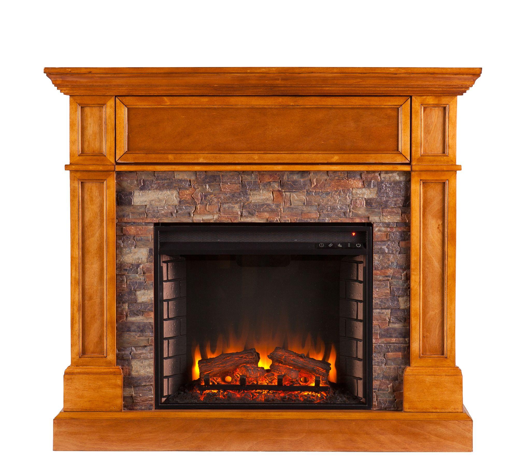 Bluff Canyon Thornton Convertible Electric Fireplace — QVC.com