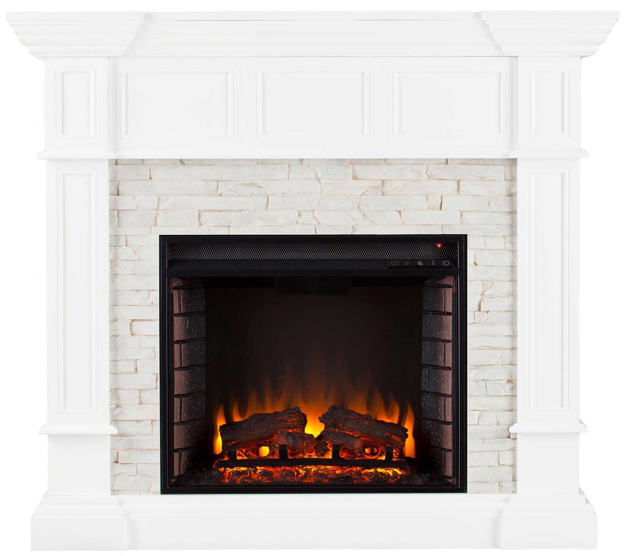 Anderson Corner Convertible Electric Fireplace — QVC.com