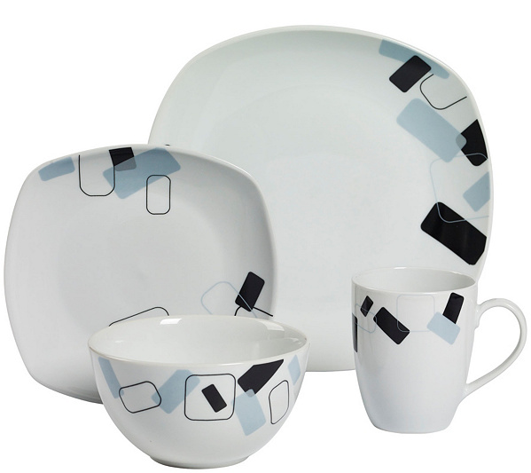 Tabletops Gallery 16-Piece Dinnerware Set - Dean — QVC.com