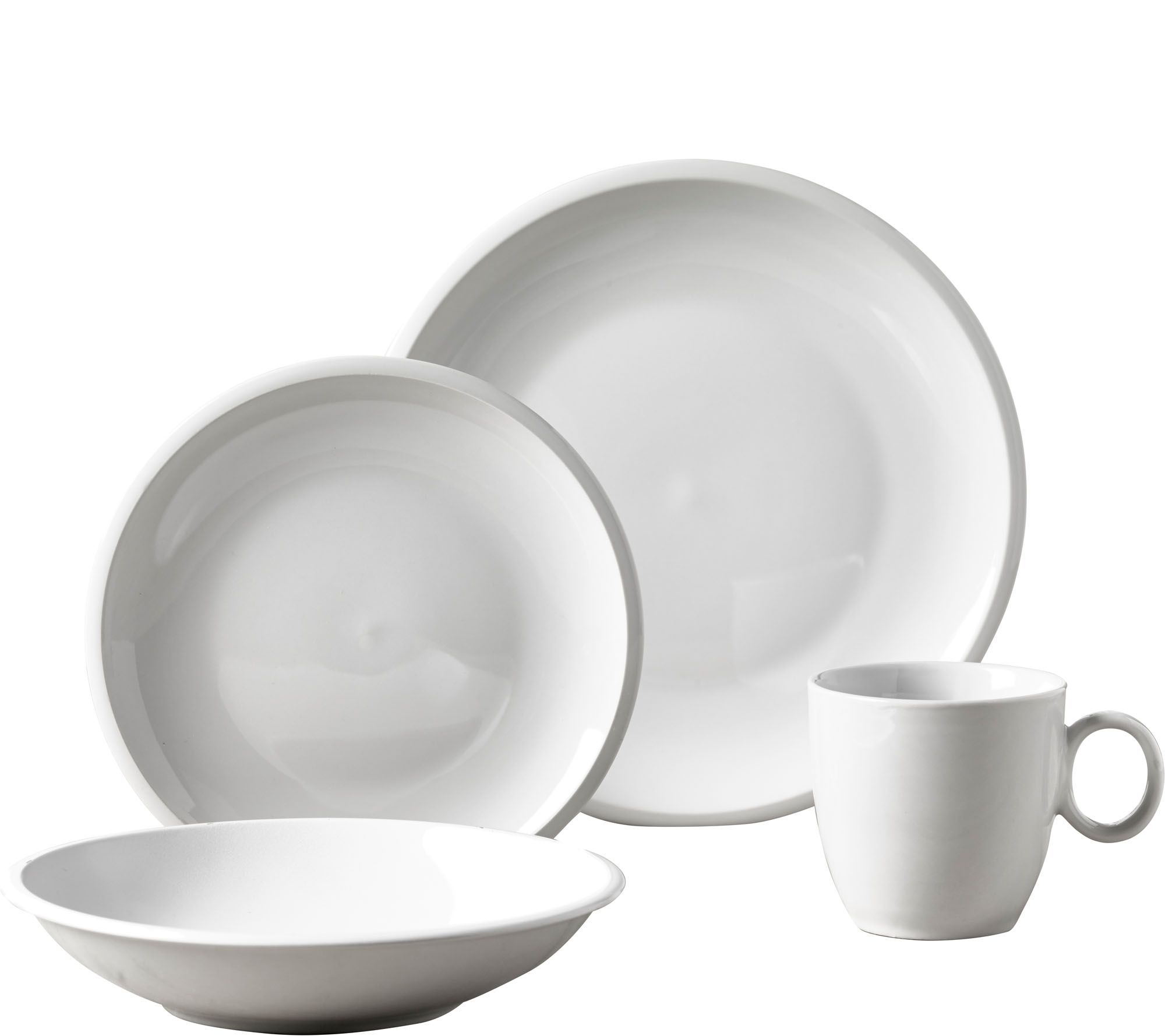 Tabletops Gallery 16 Piece Dinnerware Set   Ribbon U2014 QVC.com