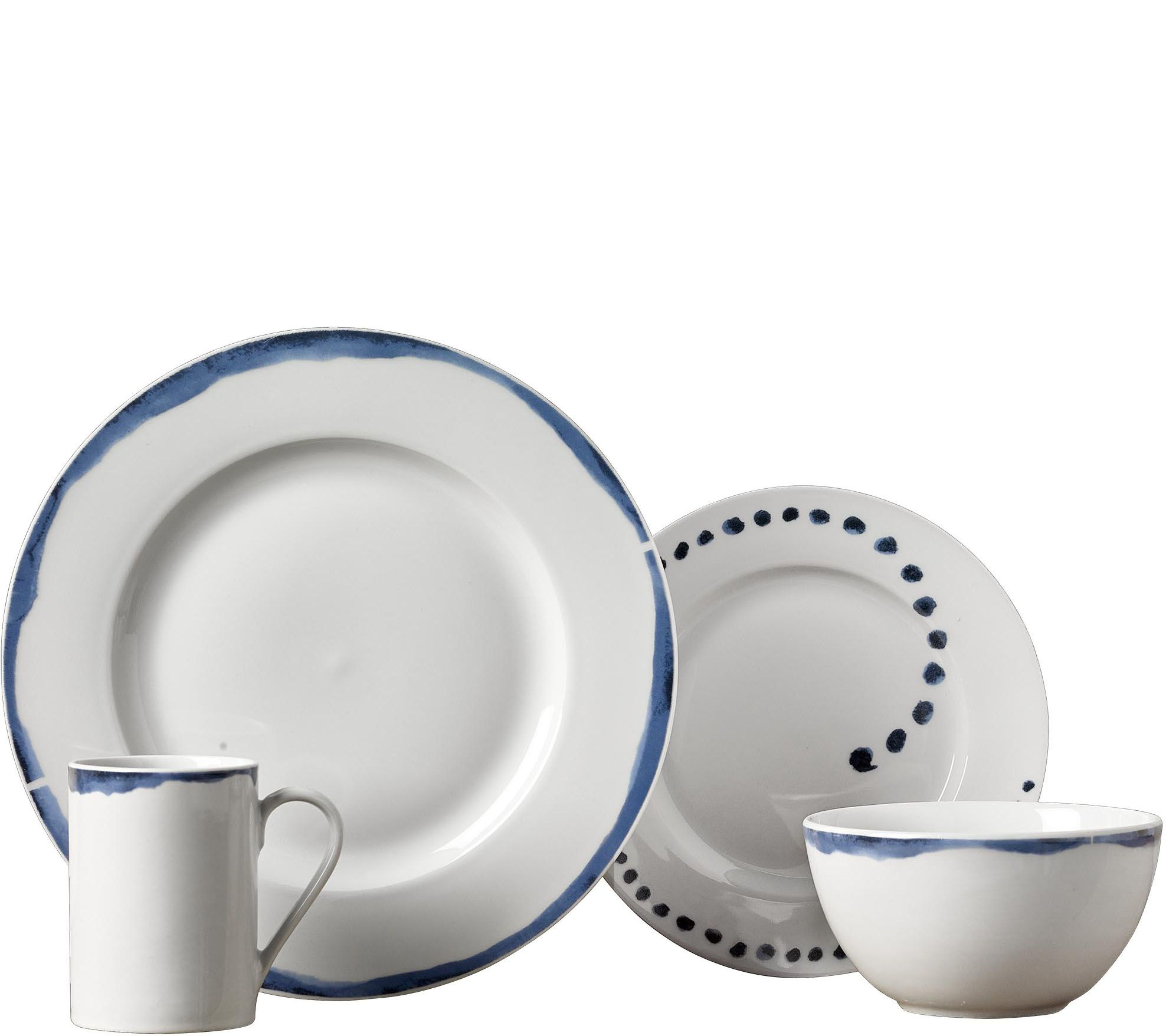 Tabletops Gallery 16 Piece Dinnerware Set   Isla U2014 QVC.com