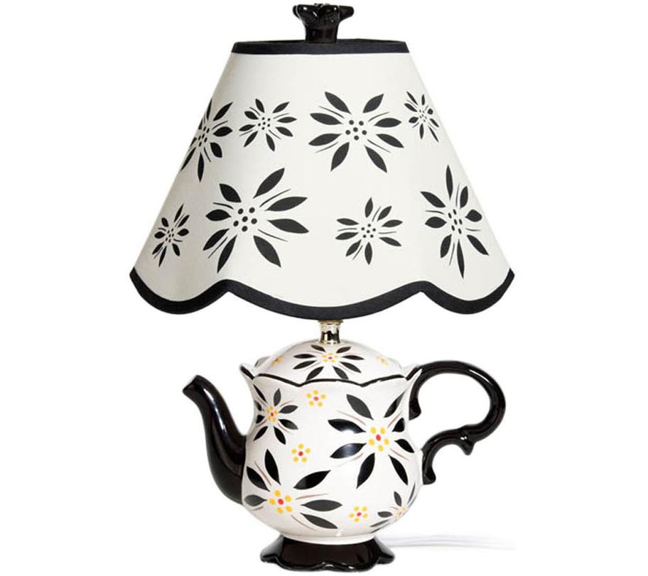 Temp tations old world teapot lamp page 1 qvc com