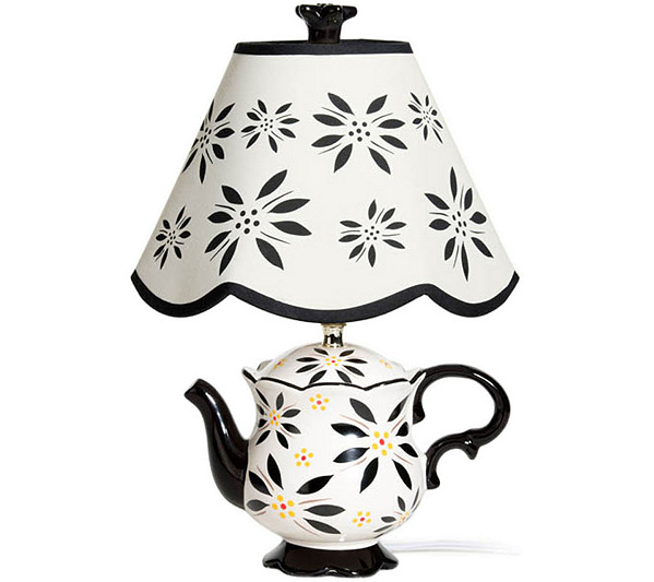 Temp tations old world teapot lamp page 1 qvc com