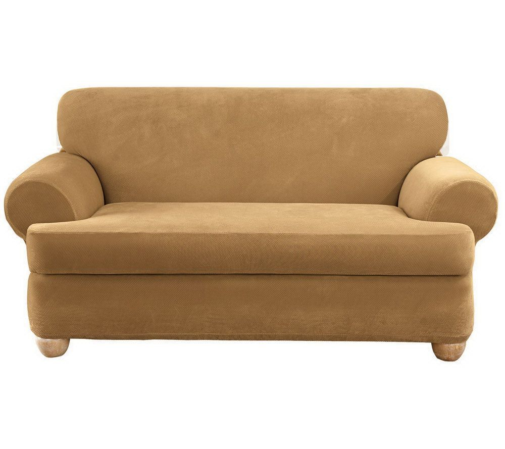 Sure Fit Stretch Pique 3Piece TCushion Sofa Slipcover Page 1