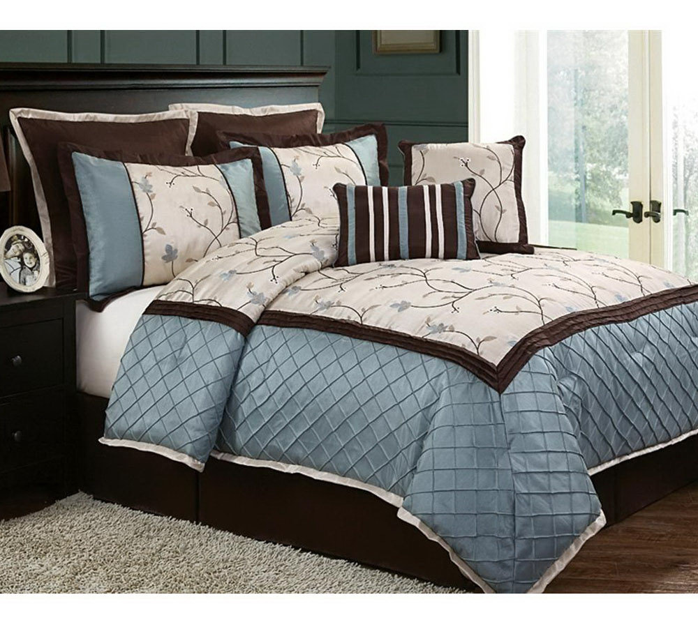 alexandria 8 piece queen bedding set - page 1 — qvc