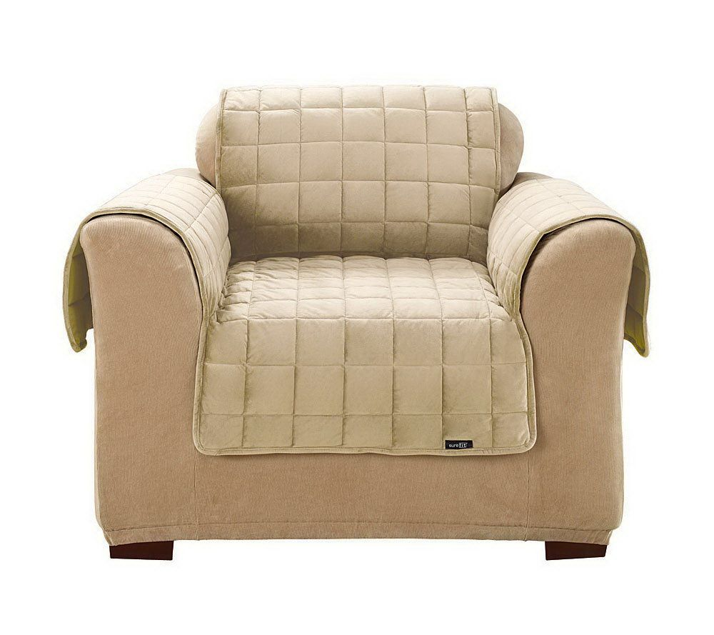 sure fit deluxe pet comfort chair cover h355609