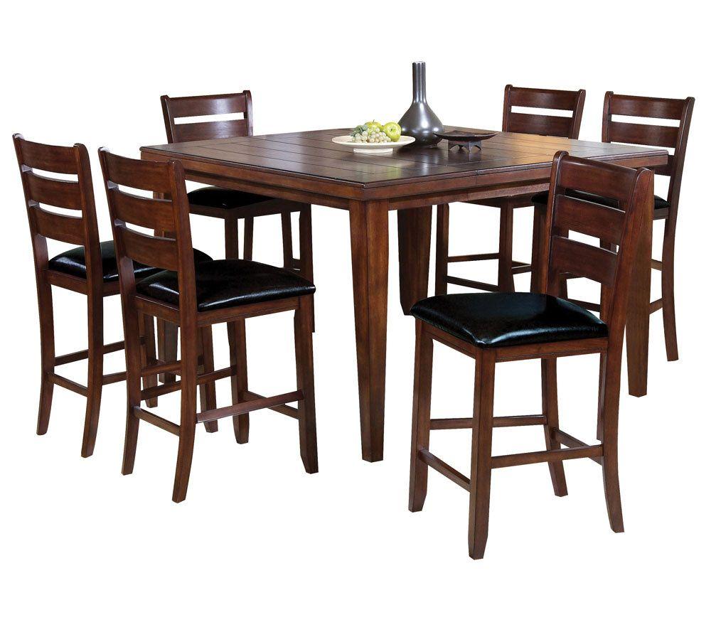 Urbana Cherry Counter Height Dining Set By AcmeFurniture U2014 QVC.com