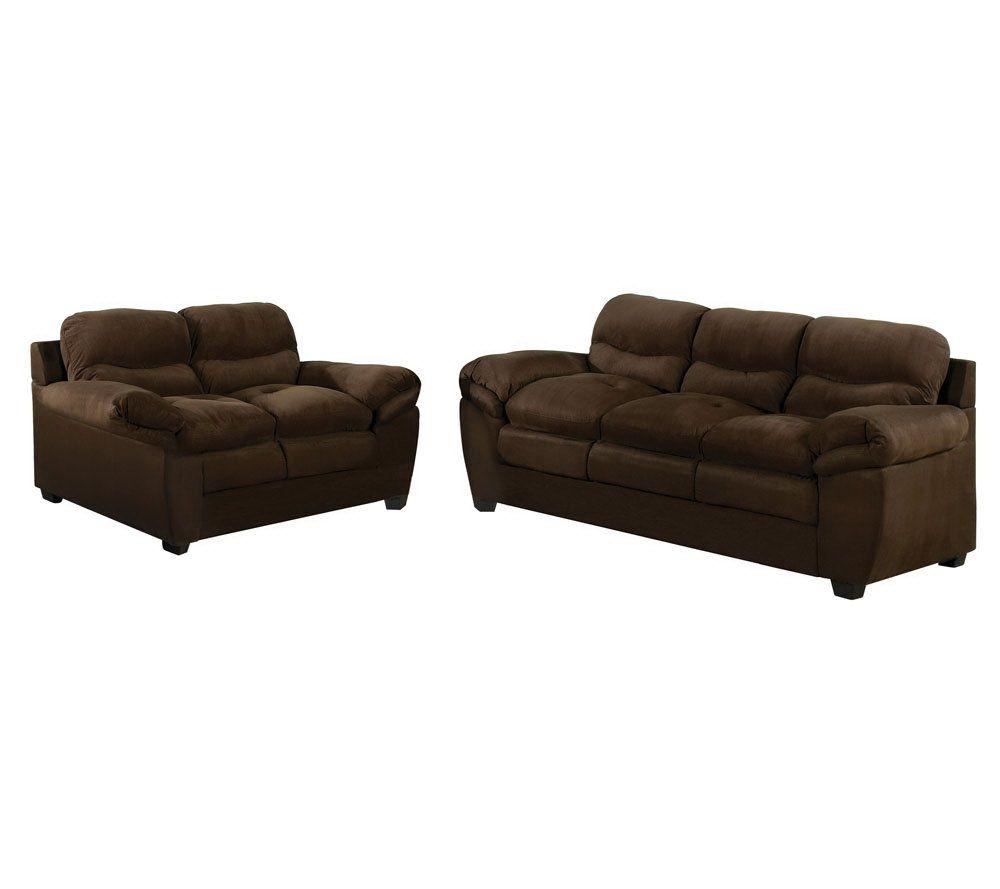 Stanford Chocolate Microfiber Sofa Set By AcmeFurniture U2014 QVC.com