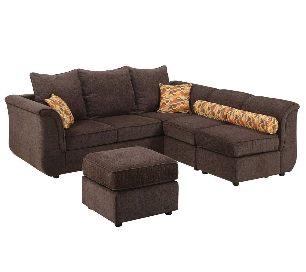 Caisy Chocolate Chenille Sectional Sofa By AcmeFurniture U2014 QVC.com