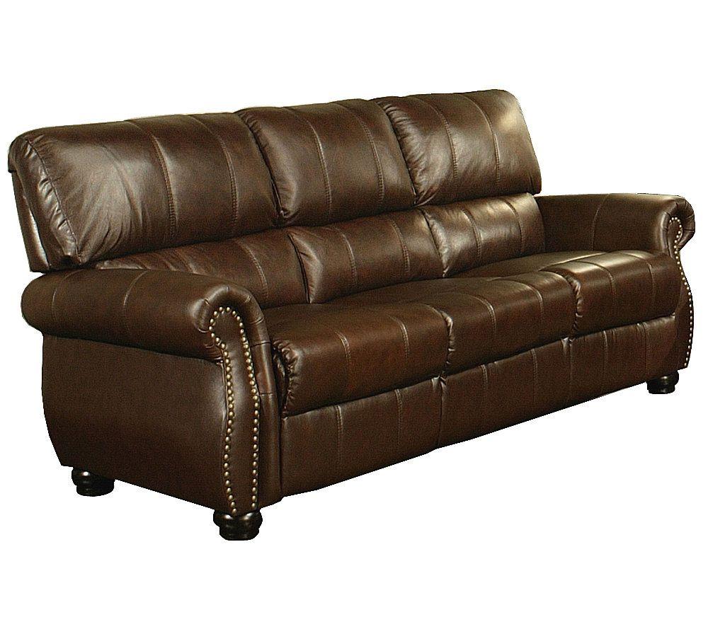 Abbyson Living Lorenzo Italian Leather Sofa U2014 QVC.com