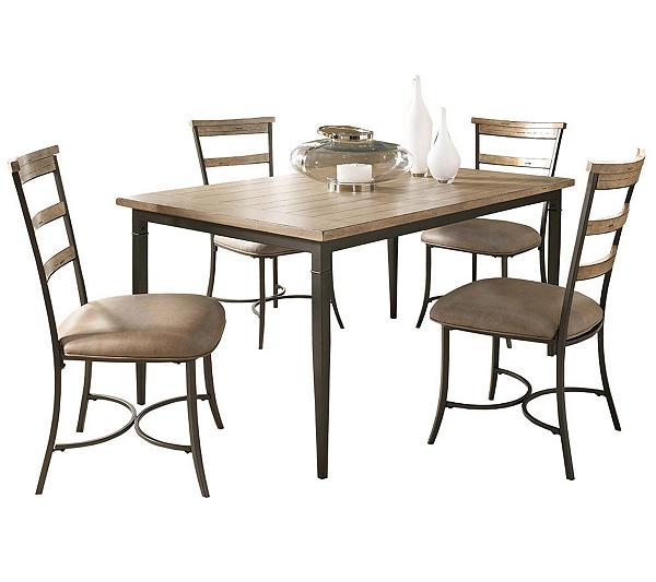 Hillsdale Charleston 5pc Rectangle Dining Set W Ladder Chairs QVC