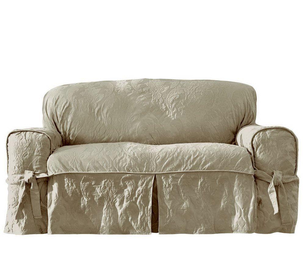 High Quality Sure Fit Matelasse Damask Sofa Slipcover   Page 1 U2014 QVC.com
