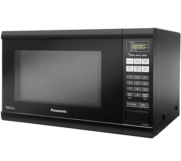 Panasonic 1 2 Cu Ft 1200w Countertop Microwave Oven Black Page Qvc