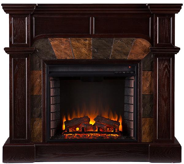 Quincy Freestanding Ventless Corner/ Wall Electric Fireplace - Page 1 —  QVC.com - Quincy Freestanding Ventless Corner/ Wall Electric Fireplace