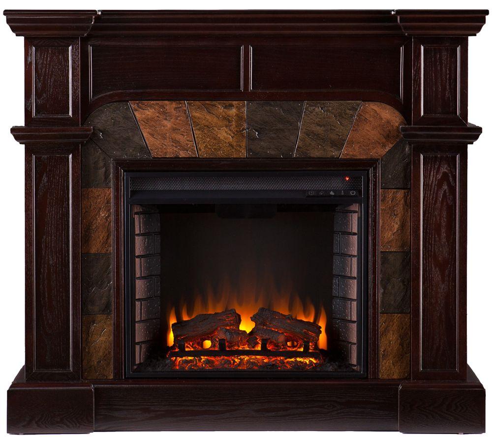 Electric Fireplace Freestanding Part - 40: Quincy Freestanding Ventless Corner/ Wall Electric Fireplace - Page 1 U2014  QVC.com