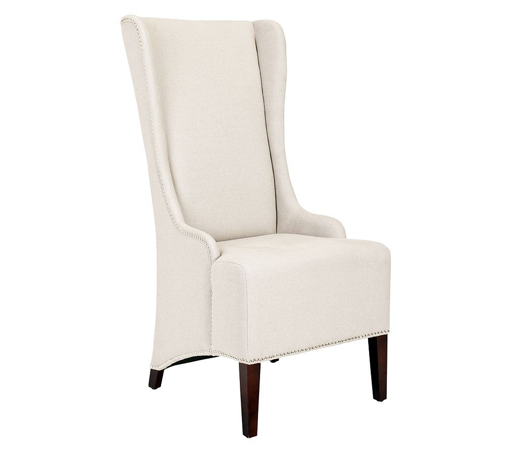 Nice Safavieh Bacall Dining Chair With Silvertone Nailhead Trim   Page 1 U2014  QVC.com