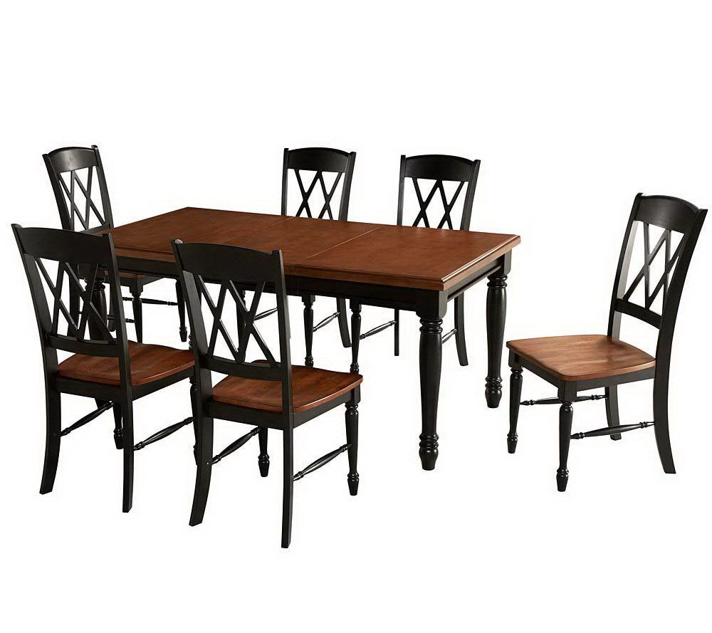Home Styles Monarch Dining Table And 6 Chairs U2014 QVC.com
