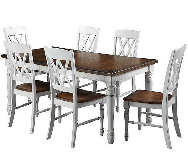 Home Styles Monarch Dining Table And 6 Chairs QVC