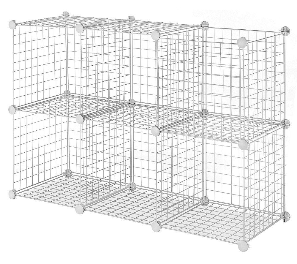 Beautiful Whitmor Wire Storage Cubes Set 6