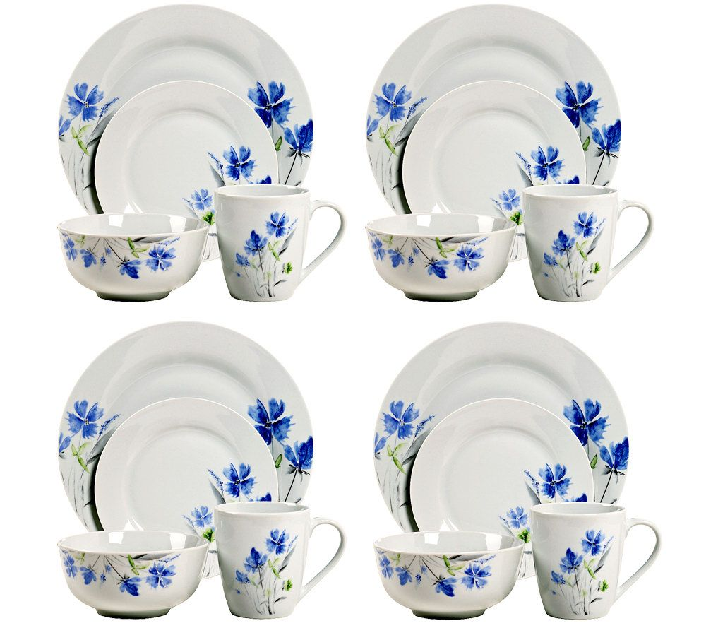 Tabletops Gallery 16 Piece Wildflower Dinnerware Set   Page 1 U2014 QVC.com