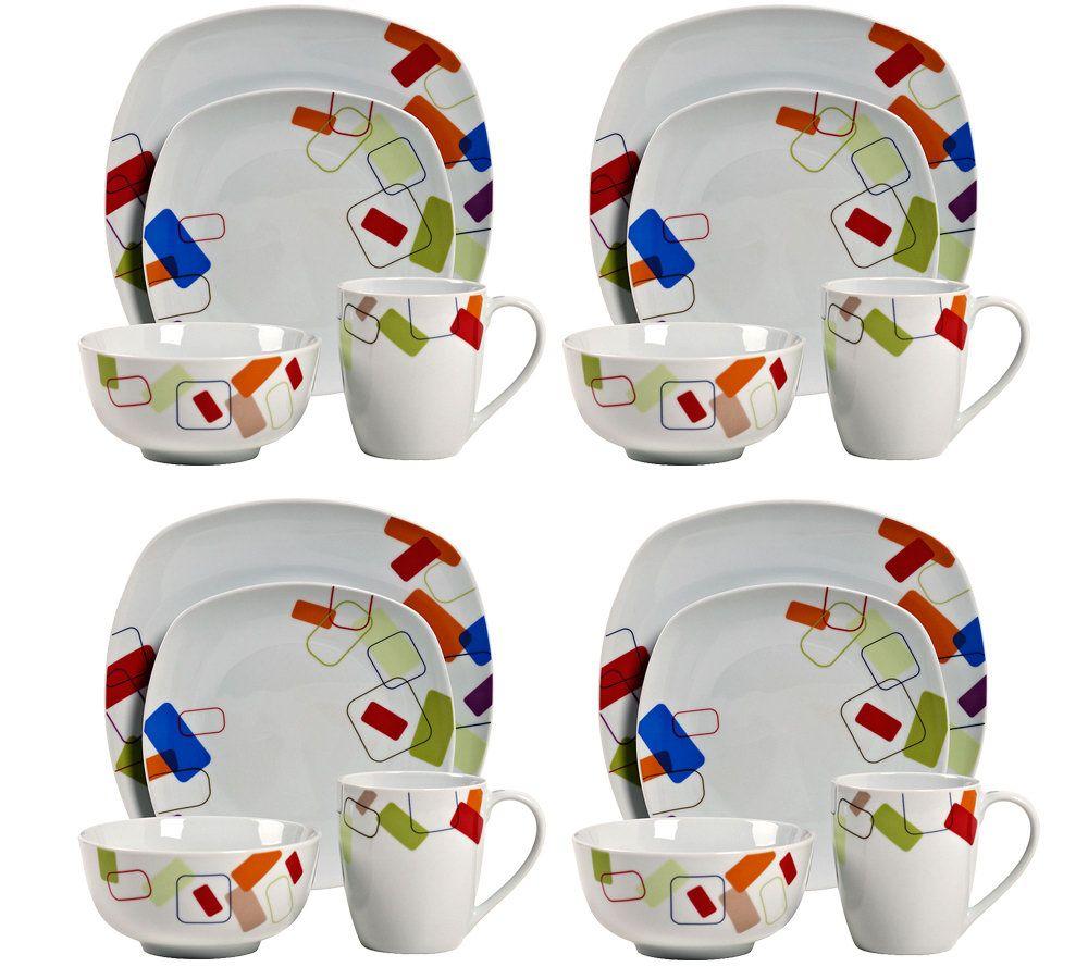 sc 1 st  QVC.com & Tabletops Gallery 16-Piece Soho Dinnerware Set \u2014 QVC.com