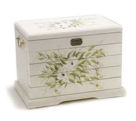 Thomas Pacconi Handpainted Deluxe 4Drawer Jewelry Box QVCcom