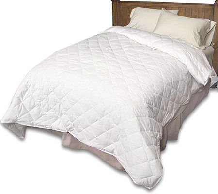 Northern Nights 300TC Oversized King Size Down Comforter U0026 Blanket Set U2014  QVC.com