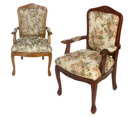 Thomas Pacconi Victorian Stlye Tapestry Upholstered Parlour Chair U2014 QVC.com